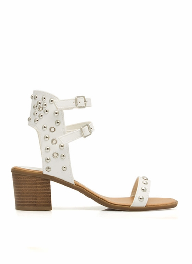 Pack A Punch Strappy Studded Sandals