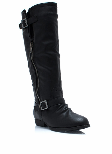 Pad Me Down Zippered Riding Boots
