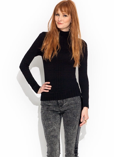 Panther Link Turtleneck Top