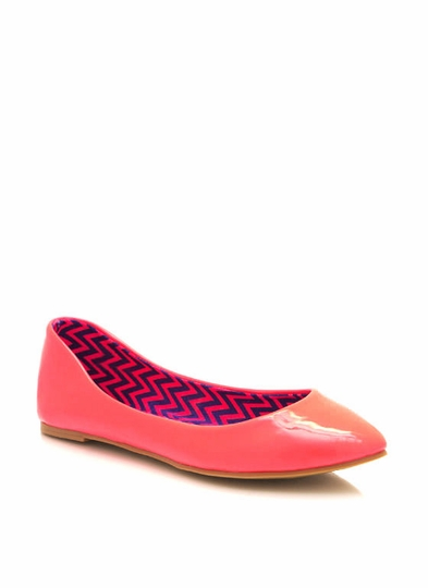 Patent Faux Leather Flats