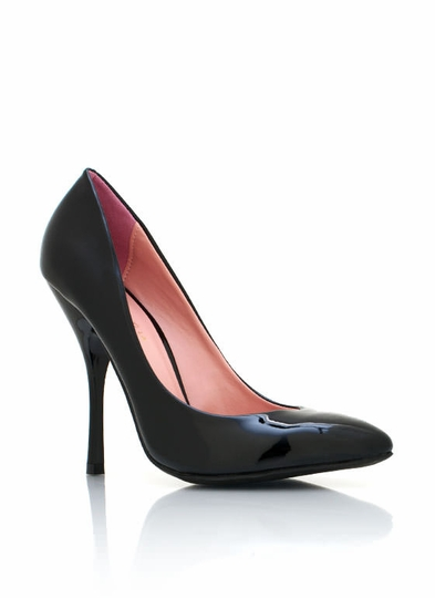 Patent Faux Leather Pumps