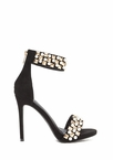 Pearls And Pyramids Ankle Strap Heels