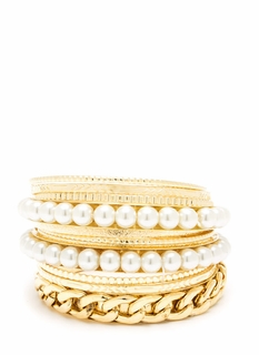 Pearly Gates Bangle Set