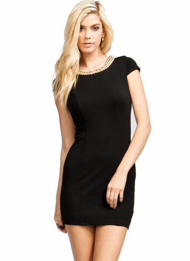 Pearly Girl Chain Collar Dress