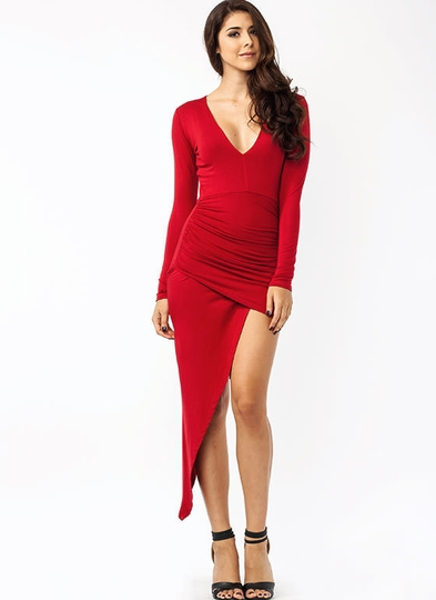 Perfect Goddess Draped Dress