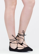 Perfect Pick Pointy Lace-Up Flats