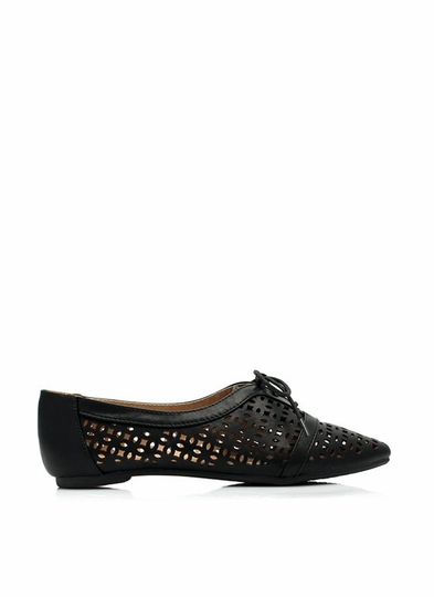 Perfectly Pointy Perforated Jazz Flats