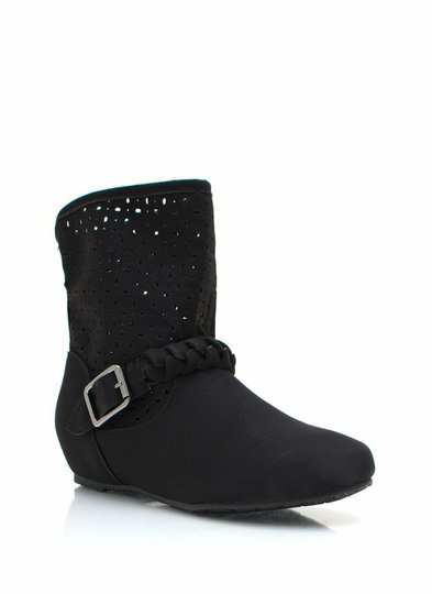 Perforated Braided Boots