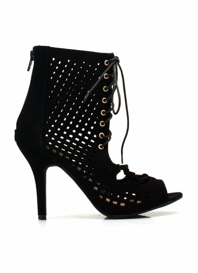 Perforated Cut-Out Heels