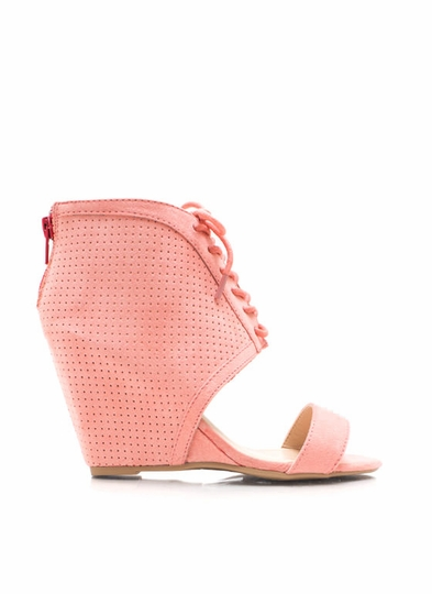 Perforated Open-Toe Wedges