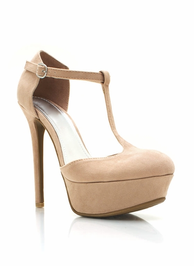Pin-Up T-Strap Platform Pumps