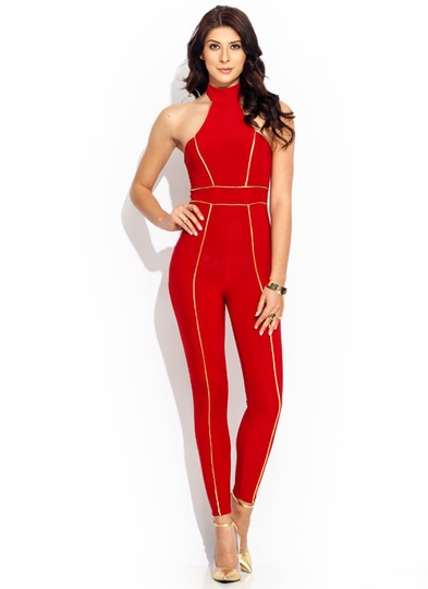 Pipe Down Halter Jumpsuit