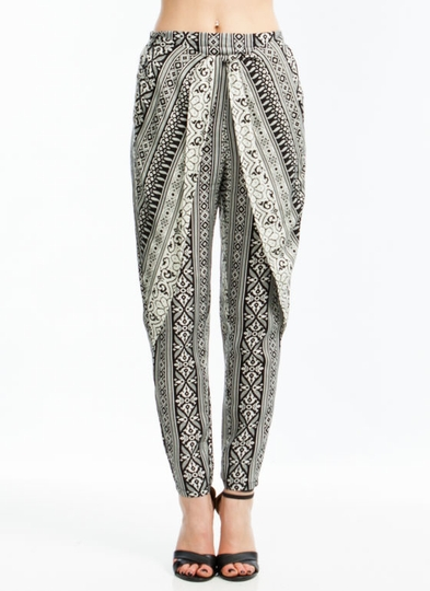 Pixelated Tribal Print Pants