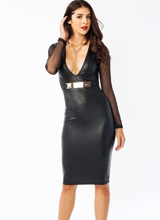 Plate Special Faux Leather Dress