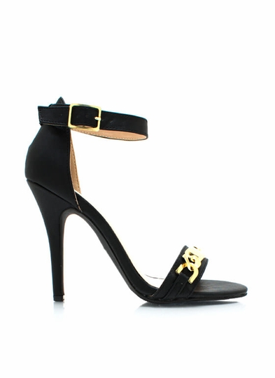 Plate To Win Ankle Strap Heels