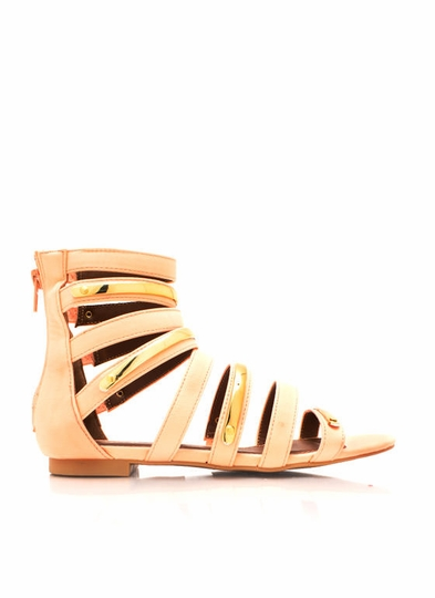 Plating Around Gladiator Sandals