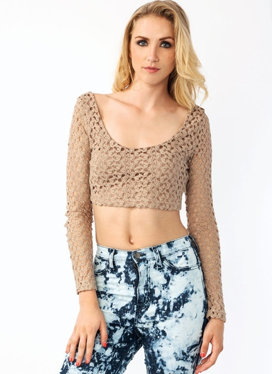 Play Crochet Cropped Top