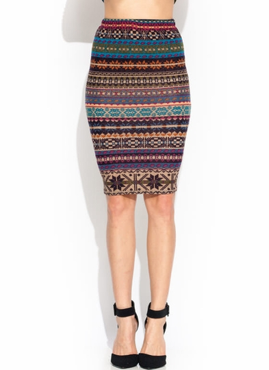 Play Fair Isle Sweater Pencil Skirt