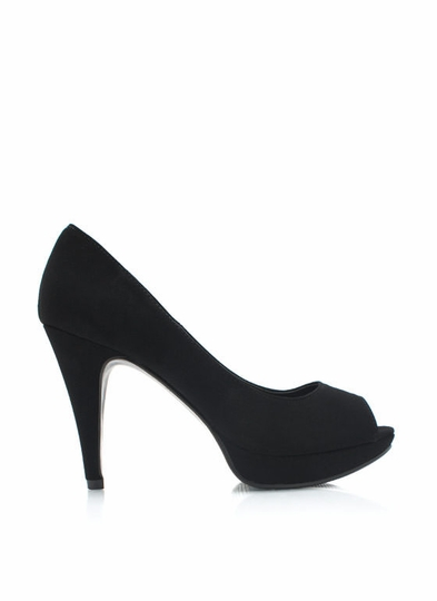 Play For Peeps Faux Nubuck Pumps