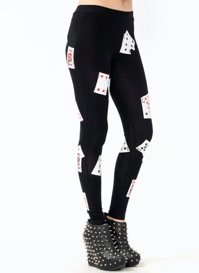 Playing Card Leggings