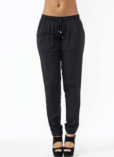 Pleated Georgette Lounge Pants