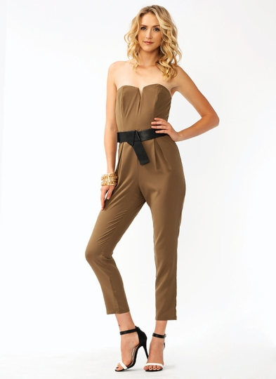 Pleated Tapered Jumpsuit