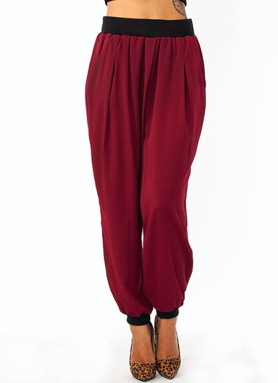 Pleated Woven Lounge Pants