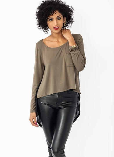 Pocket Change Chiffon Back Top