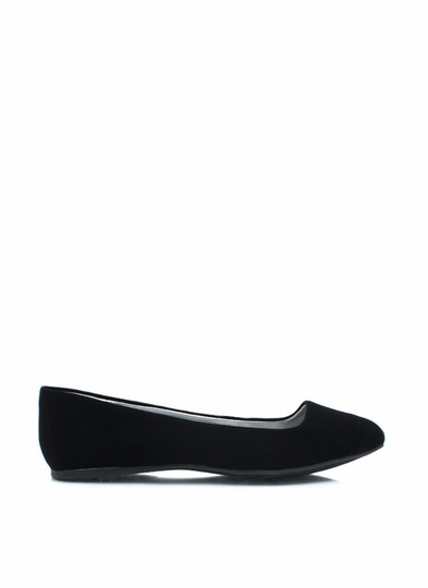 Point It Out Faux Nubuck Flats