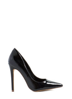 Point Of Contact Faux Patent Heels