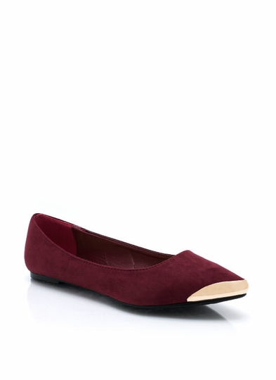 Point Your Toes Faux Suede Flats
