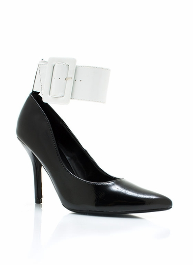 Pointy Ankle Cuff Pumps