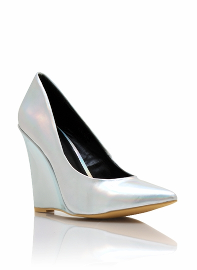 Pointy Toe Hologram Wedges
