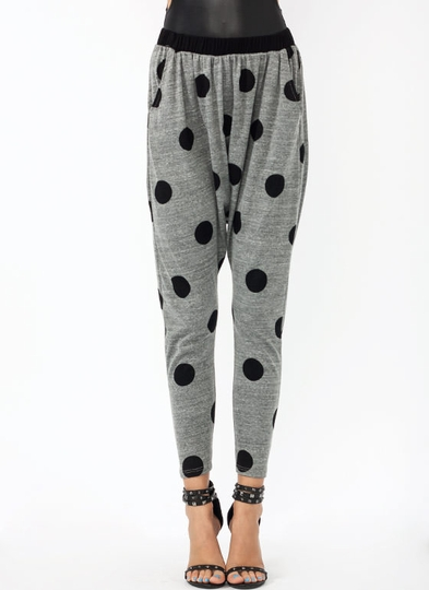 Polka Dot Drop Crotch Pants