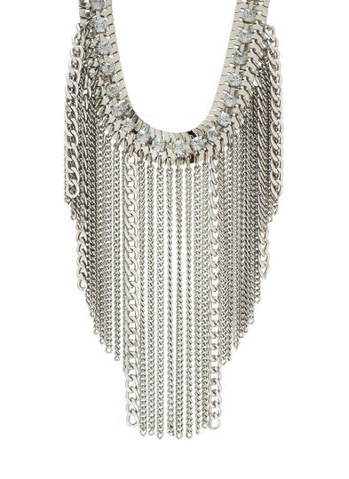 Pouring Chain Fringe Necklace Set