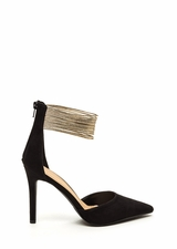 Power Play Pointy Faux Suede Heels
