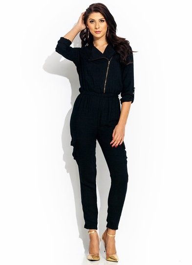 Precious Cargo Zip-Up Jumpsuit