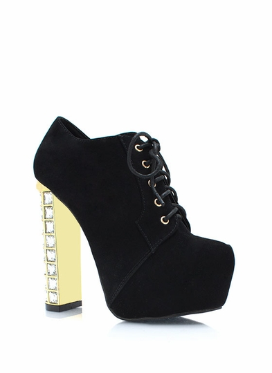 Precious Jewels Velvet Booties