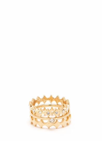 Precious Stack Ring Trio