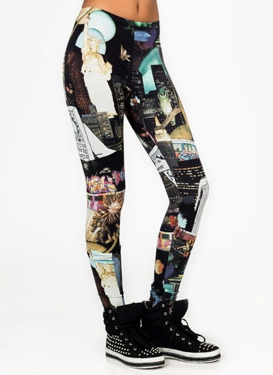 Printed Las Vegas Leggings