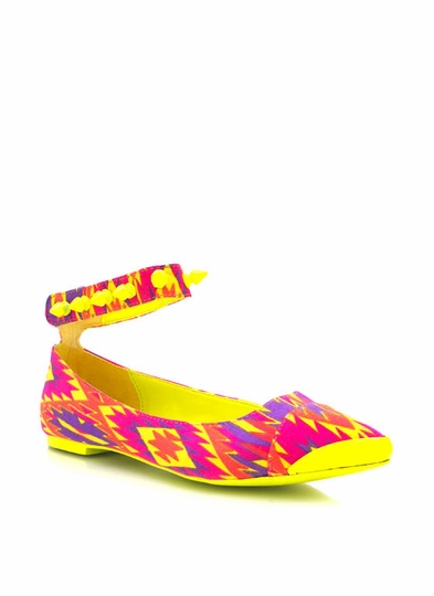 Printed Pointy Toe Flats