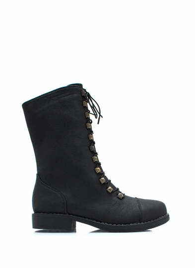 Prism Break Studded Combat Boots