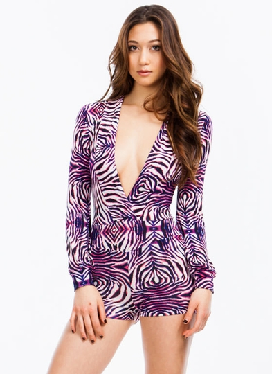 Psychedelic Animal Romper