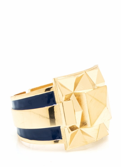 Pyramid Party Two-Tone Bracelet