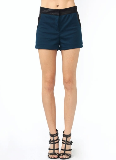Quilted Inset Knit Shorts