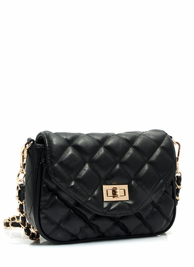 Quilted Twist Lock Bag