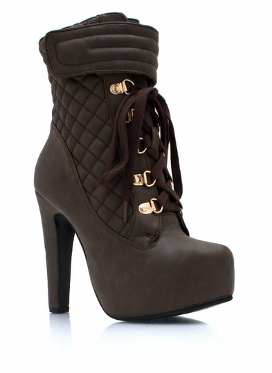Quilty Conscience Faux Leather Booties