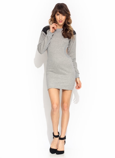 Quilty Cut-Out Sweatshirt Dress