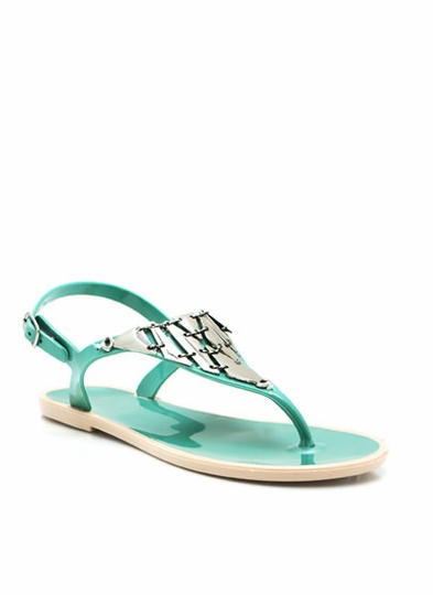 Quit Metal-ing Jelly Sandals