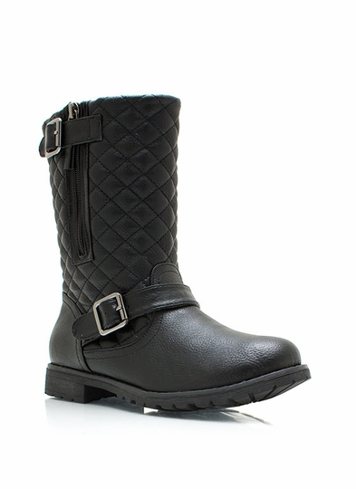 Quite Quilted Low Rise Boots